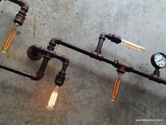 Edison Custom Wall Lamp - Steampunk Furniture - Industrial Lighting on Etsy, $795.00