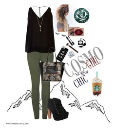 """Military casual"" by kaitgodislove ❤ liked on Polyvore featuring GlamGlow, Casetify, 2LUV, River Island, Danielle Nicole, Jeffrey Campbell, EF Collection and Christian Dior"