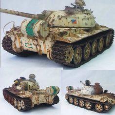 Iraqi T-55m Wreck By: Andy Taylor From: network54 #scalemodel #plastimodelismo #miniatura #miniature #miniatur #hobby #diorama #humvee #scalemodelkit #plastickits #usinadoskits #udk #maqueta #maquette #modelismo #modelism