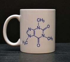Caffeine Molecule Coffee Mug - Unique Coffee Mugs for Scientists and Science Teachers $14.00