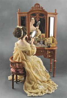 PictureTrail provides online photo sharing, personal homepages and image hosting. Victorian Dolls, Antique Dolls, Vintage Dolls, Victorian Ladies, Miniature Houses, Miniature Dolls, Doll Furniture, Dollhouse Furniture, Dollhouse Dolls