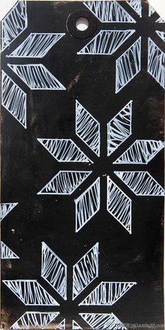 Ronda Palazzari - made with new Chrysanthemum stencil.