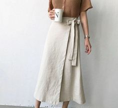 Linen Skirt, Linen Dresses, Modest Fashion, Fashion Dresses, Steampunk Fashion, Gothic Fashion, Skirt Outfits, Casual Outfits, Look Cool
