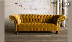Sofas, Armchairs & Couches for sale Silver Sofa, Gold Sofa, Velvet Chesterfield Sofa, Velvet Armchair, Sofa Design, Red Velvet Chair, Velvet Chairs, Velvet Couch, Yellow Sofa