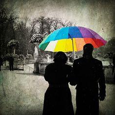 Parisian decor - Art prints - Rainbow umbrella - Winter photos - Red Umbrella - Paris Photography - Print via Etsy. Paris Photography, Winter Photography, Fine Art Photography, Nature Photography, Umbrella Photography, Cute Umbrellas, Colorful Umbrellas, Art Parisien, Parisian Decor