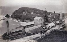 Cape Cornwall St Just United Mine, Bailey's Shaft, c.1880s - Robert Preston