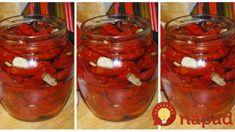 Špeciálna pochúťka z rajčín a cesnaku: Pečené rajčiny vo vlastnej šťave-tak výborné, že nestíham dávať do pohárov! Preserves, Salsa, Jar, Vegetables, Food, Preserve, Essen, Preserving Food, Vegetable Recipes