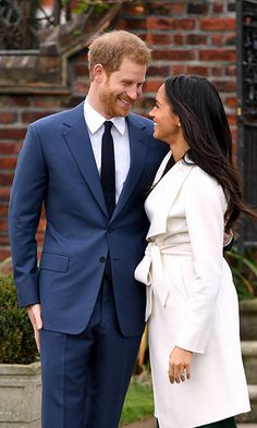 Prince Harry and Meghan pose for beautiful engagement photos