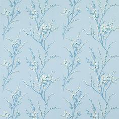 Light Blue Pattern Designer Fabric