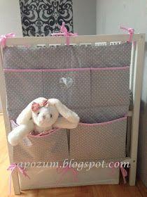 Apozu: Jak uszyć organizer na łóżeczko... - 26/52 projekt 2015. Bed Rest Pillow, Bassinet, Toy Chest, Storage Chest, Kids Room, Organization, Pillows, Sewing, Toys