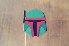 Boba Fett Helmet Photo Prop on a Stick // Star by Perfectionate