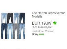 """Ebay: Lee-Jeans für 19,99 Euro mit Gratis-Versand https://www.discountfan.de/artikel/klamotten_&_schuhe/ebay-lee-jeans-fuer-19-99-euro-mit-gratis-versand.php Als """"Wow! des Tages"""" sind jetzt bei Ebay acht verschiedene Lee-Jeans in zahlreichen Größen zum Schnäppchenpreis von 19,99 Euro mit Versand zu haben. Außerdem im Angebot: Ein Medion-Notebook zumn Schnäppchenpreis. Ebay: Lee-Jeans für 19,99 Euro mit Gratis-Versand (Bild: Ebay.de) Die... #Jeans"""