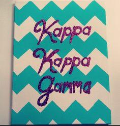Kappa kappa gamma chevron sorority craft. http://www.hercampus.com/school/u-mass-amherst