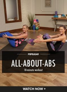 10-minute video abs workout to tone your entire midsection. #abs #workout #video