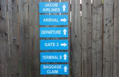 Airplane Party Signs, Airport Terminal Signs, Airplane Birthday Party, Airport Signs, Airplane Baby Shower, Airplane Decorations, Photo Prop by CraftyCue on Etsy