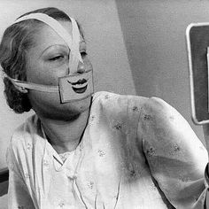 "Caras vemos corazones no sabemos.  @Regrann_App from @historicalpix -  1937. A woman wearing a fake smile at Budapest ""Smile Club"". This club was created by Professor Jeno and a hypnotist named Binczo to counteract the prevalent suicide craze in Hungary.  #Hungary #Budapest #smile #club #suicide #therapy #historyinpictures #historicalpix - #regrann"