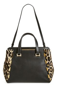 Jimmy Choo 'Large Alfie' Leopard Print Calf Hair & Leather Satchel available at #Nordstrom