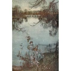 Peter Pan in Kensington Gardens 1912 The fairies by the lake Canvas Art - Arthur Rackham (24 x 36)