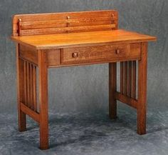 The Oregon Chair Company's King Craft furniture, including this circa 1914 desk, is well represented in the MOHAI exhibit.