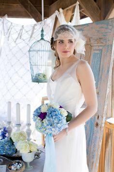 Beach Wedding Ideas -- Beach Wedding Editorial - http://fabyoubliss.com/2015/04/23/elegant-blue-purple-beach-wedding-editorial