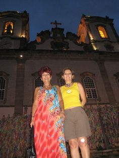 Sandra e Sueli - Igreja do Bonfim - Salvador - 20/Fev/2009