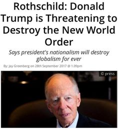 GOOD! New world order is dangerous!