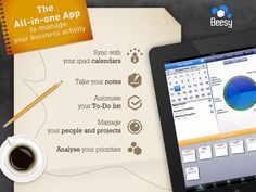 Beesy – iPad To-Do directly from your notes : http://www.beesapps.com/beesy-ipad-to-do/    The all in one app to manage your Business activity, you can sync with your ipad calendars, take your notes, automate your to-do list, manage your people and projects and analyse your priorities. #beesy #ipadtodo #todo