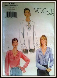 Vogue Patterns 7316   Size  121416  UNCUT by ThePatternShopp, $5.00