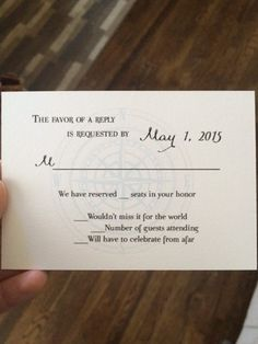 Wedding rsvp card we have reserved seats in your honor google we have reserved seats for you rsvp help weddings do it yourself planning etiquette and advice wedding forums weddingwire stopboris Gallery