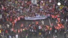 Protesta antiausteridad en Londres con dedicatoria especial a Grecia