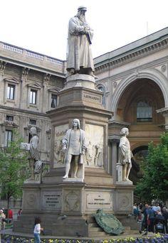 Milano Statua di Leonardo - Leonardo da Vinci – Wikipédia, a enciclopédia livre