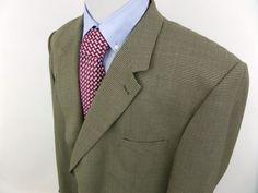 56L Gerald Austin Men's Two Button Houndstooth Sportcoat  Blazer Jacket  #GeraldAustin #TwoButton