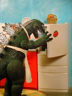 Godzilla homemaker extraordinaire!!!!