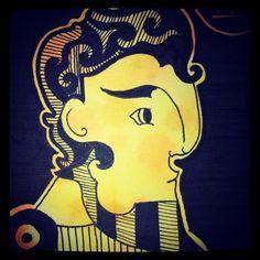 memorama sobre la mitología griega técnica: plumin y acuarela