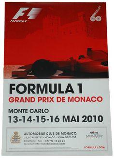2010 Monaco Grand Prix poster