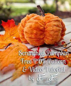 Minky Pumpkin Tutorial by Fleece Fun