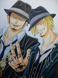 Law and Sanji. All of them are my favourite characters