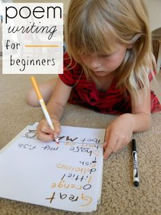 Poetry Writing for Kids: 3 Fun Poems for Kids to Write