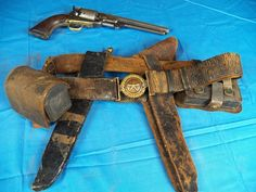 """Set belonging to a Confederate officer """"Colonel FS Bass"""". He enlisted as a captain and attained the rank of colonel in the 1st Infantry Texas (Hood's Brigade)."""