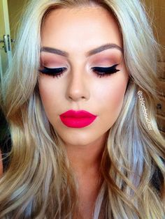 mac relentlessly red...how pretty this whole look is.