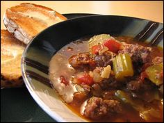 Substitute some All-Natural Dietz & Watson Chicken in this stew for a delicious weekday Sausage Stew, Chicken Sausage, Sunday Recipes, Winter Recipes, Fun Cooking, Cooking Recipes, Chili Soup, Primal Recipes, Fun House