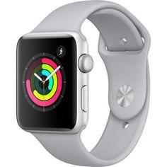 APPLE Watch Series 3 (GPS) - 38 mm - silver aluminium - smart watch with sport band - fluoroelastomer - fog - mm - 8 GB - Wi-Fi Bluetooth - g - (Smart Tech > Smart Watches & Fitn Apple Watch Silver, Buy Apple Watch, Apple Watch Series 3, Bluetooth, Usb, Code Promo Amazon, Ios Apple, Bracelet Apple Watch, Shopping
