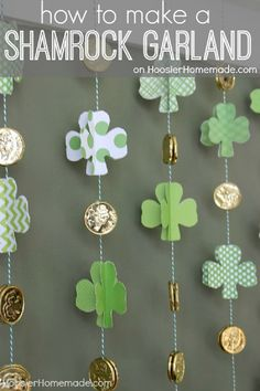 Fun DIY Paper Shamrock Garland - 15 Irish-Themed DIY St. Patrick's Day Decorations and Crafts for Kids