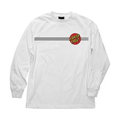 NHS Santa Cruz Classic Dot Men's Long Sleeve T-Shirts,White,XX-Large