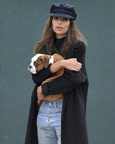 "emsratajkowski: "" ""emrata: Ya know…just carrying other people's puppies around NYC"" """