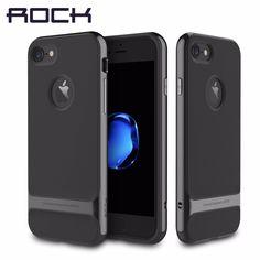 Rock 럭셔리 로이스 case 대한 iphone 7/7 plus 슬림 갑옷 커버 쉘 apple 다시 커버 iphone7 case 핀 체크 7 case