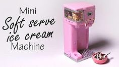 (2) Miniature Soft Serve Ice Cream Machine - Polymer Clay Tutorial - YouTube