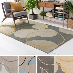 Shop for Hand-Tufted London Wool Rug (4' x 6'). Get free shipping at Overstock.com - Your Online Home Decor Outlet Store! Get 5% in rewards with Club O! - 18115071