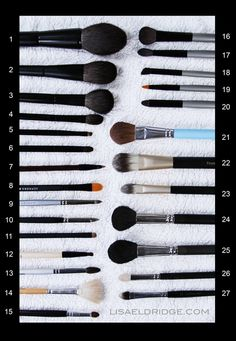 MAKEUP MUST HAVES: Lisa Eldridge's Recommended Brushes (edit: in some cases, makeup covets, Suqqu brushes are REALLY expensive.)
