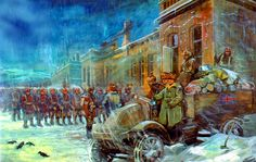 Canadian Siberian Expeditionary Force outside the depot, Siberia, Russia, 1919